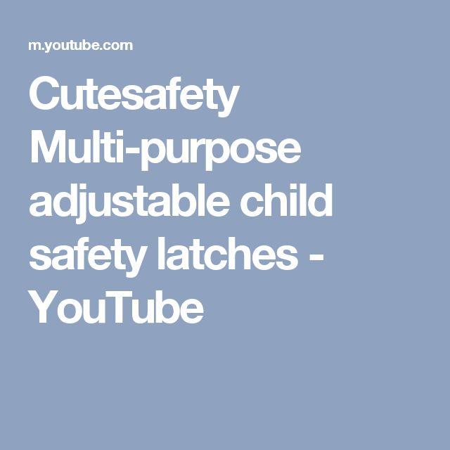 Cutesafety Multi-purpose adjustable child safety latches - YouTube