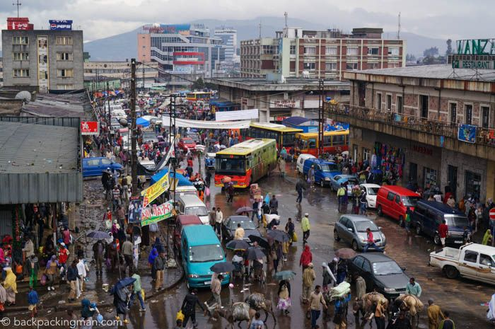 Merkato Market in Addis Ababa, Ethiopia, is a chaotic place to go to, and here you can read about a visit there with a bit of advice.