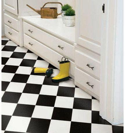 Checkered Laminate Adds Drama