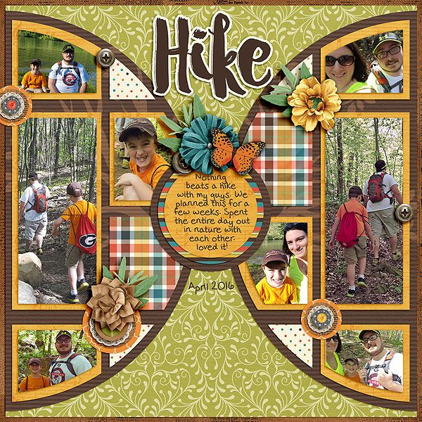 Hike - Scrapbook.com   credits: Pieces Of Pie Templates and Family Heritage…
