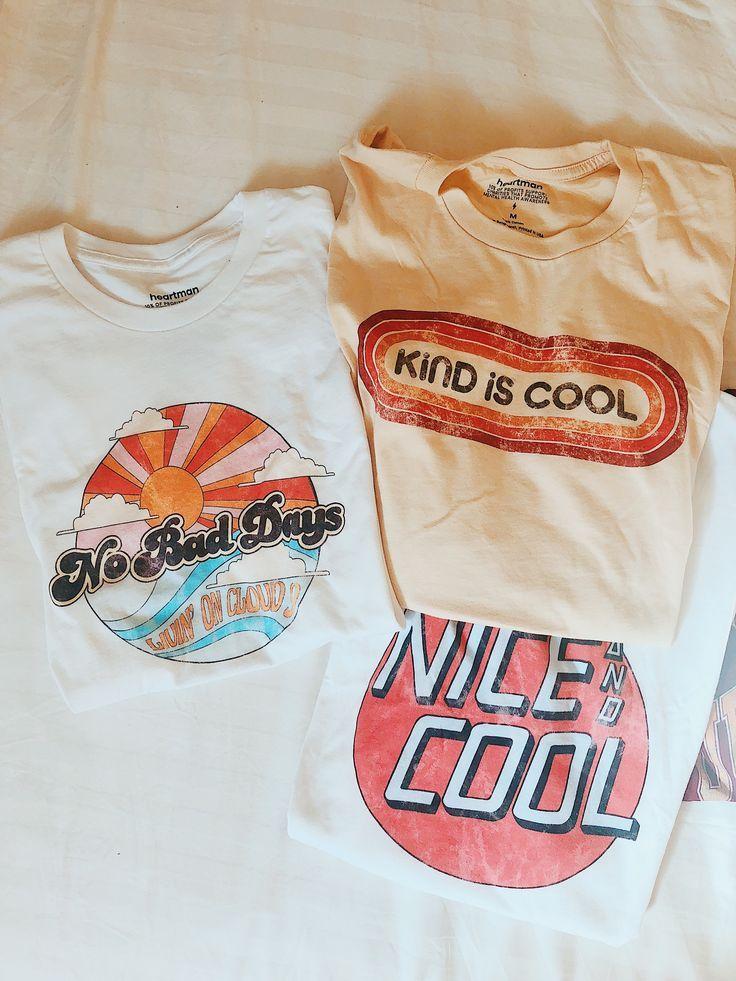 Unsere neueste Kollektion von Strand-Grafik-T-Shirts! Mit verzweifeltem Vintage-Stil – Kleidung für Frauen