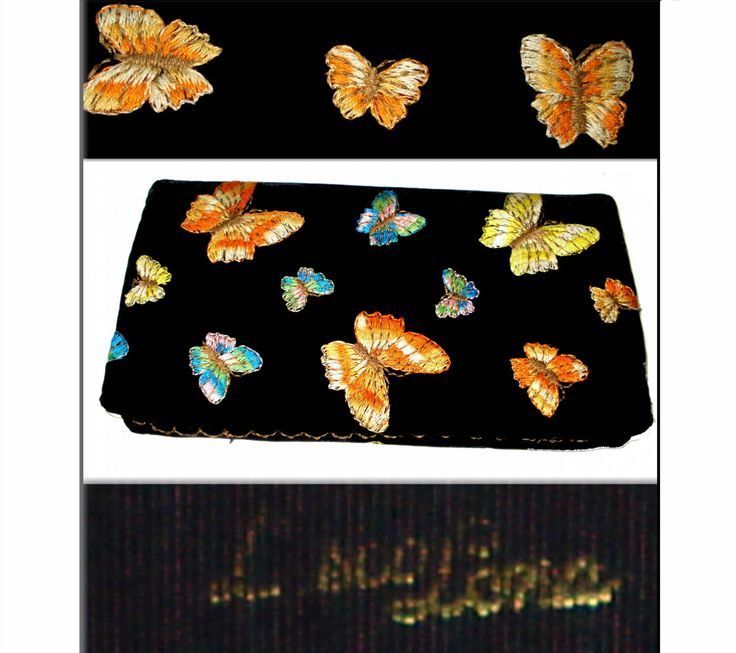 Vintage 1960s Butterfly Clutch Velvet Embroidered Butterflies Purse Handbag Mad Man Rockabilly Cocktail Garden Party Dress Designer by VintageDiva60 on Etsy https://www.etsy.com/listing/150383837/vintage-1960s-butterfly-clutch-velvet