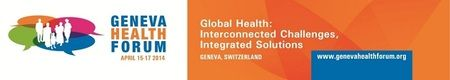 Geneva Health Forum 2014@CICG (Centre International de conference de Geneve), 17 rue de Varembe, Geneva 20, CH-1211, Switzerland on Apr 15 - 17, 2014 at 8:00 am - 8:00 pm. The Geneva Health Forum is not just another conference on health. By looking to the future, it brings vision and thrives on all participants unique experiences and in depth insights on topics and initiatives generated and implemented all over the world. URL: Booking: http://atnd.it/7292-1 Price: CHF 100 - CHF 925