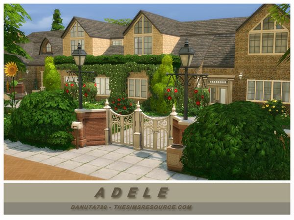 Adele house by Danuta720 at TSR via Sims 4 Updates