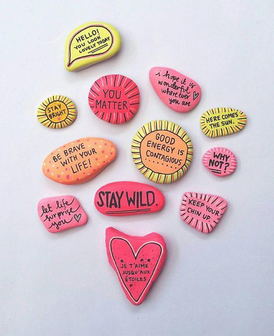 Ideen für kreatives Basteln mit Steinen :) – nett…