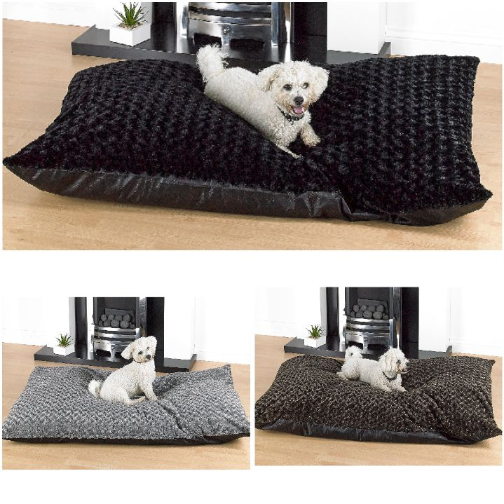 Washable Rose Fur Extra Large Dog Beds With Anti Slip Base