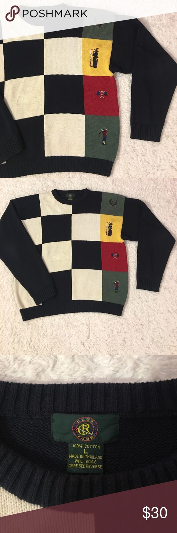 Club Room Vintage Style Golf Sweater (Large) Club Room Vintage Style Golf Sweater. Men's Large. Lightly Worn. In Great Pre Owned Condition. Sweaters Crewneck