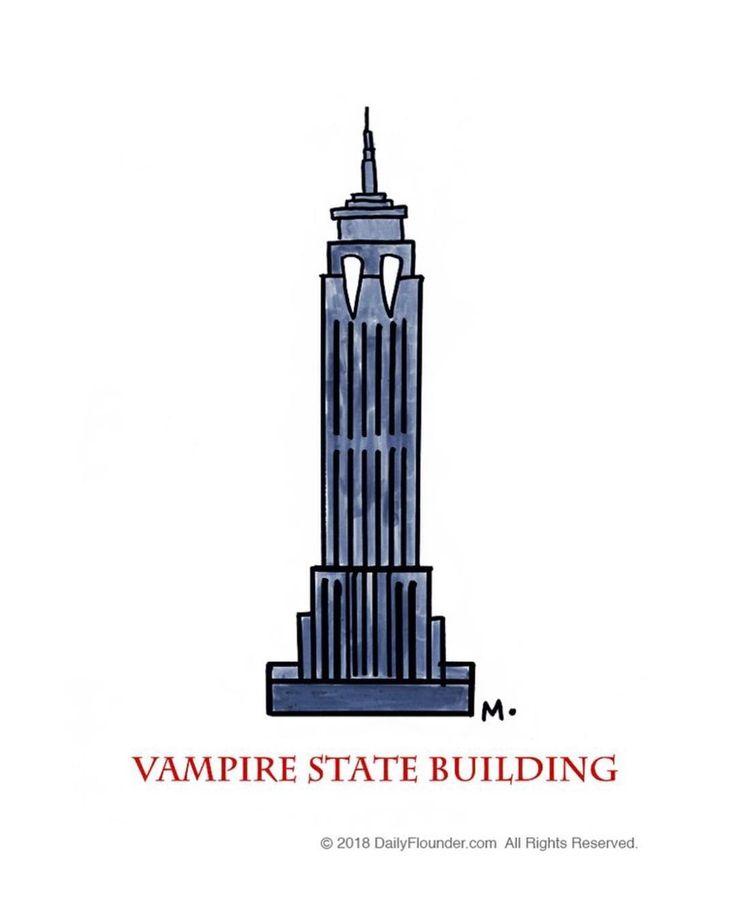 #empirestatebuilding #empire #newyork #vampire #satire #comedy #humor #funny #cartoon #playonwords #skyscraper #daily @dailyflounder