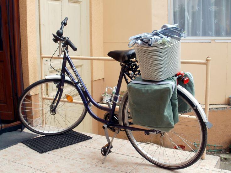 bicikli-táska és kosár
