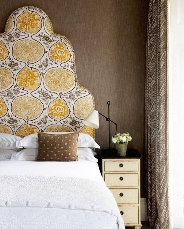 Just love this intricate headboard design. So colorful! #bedroom #homedecor @istandarddesign