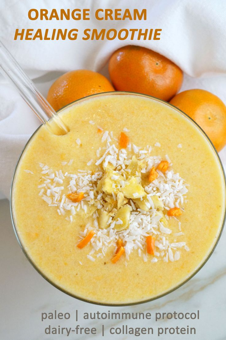 Orange Cream Healing Smoothie | Paleo | AIP | Dairy-Free