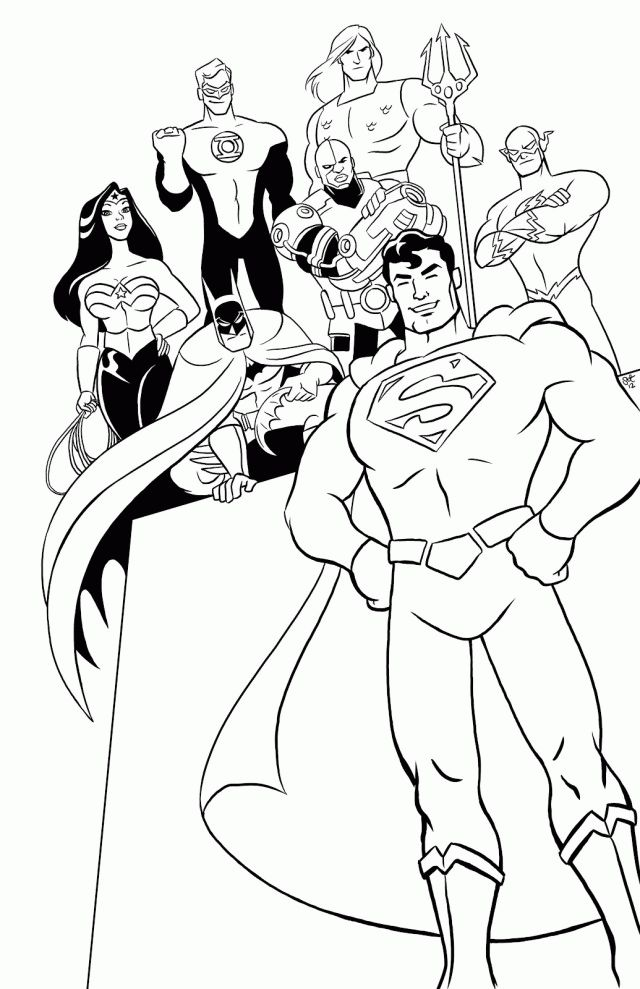 349 Best Comic Book Coloring Pages Images On Pinterest