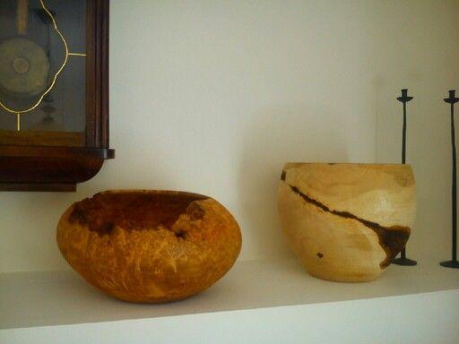 Misa klonowa a obok znana juz olchowa woodturning bowl