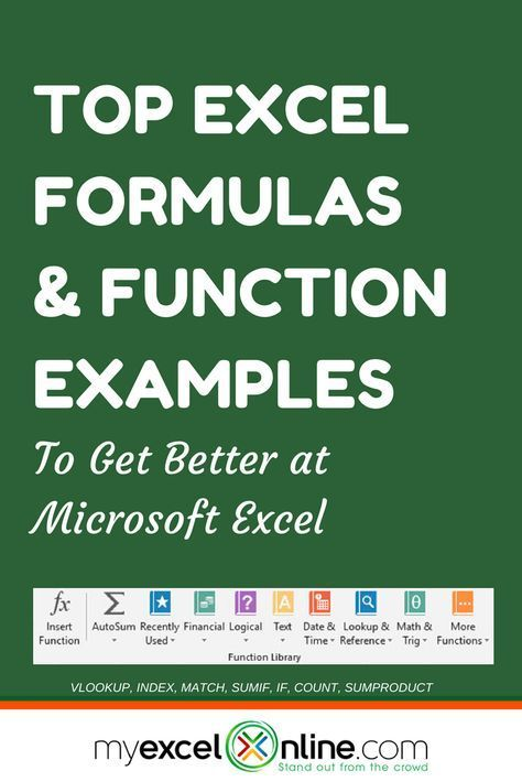 excel formulas function examples pinterest microsoft excel