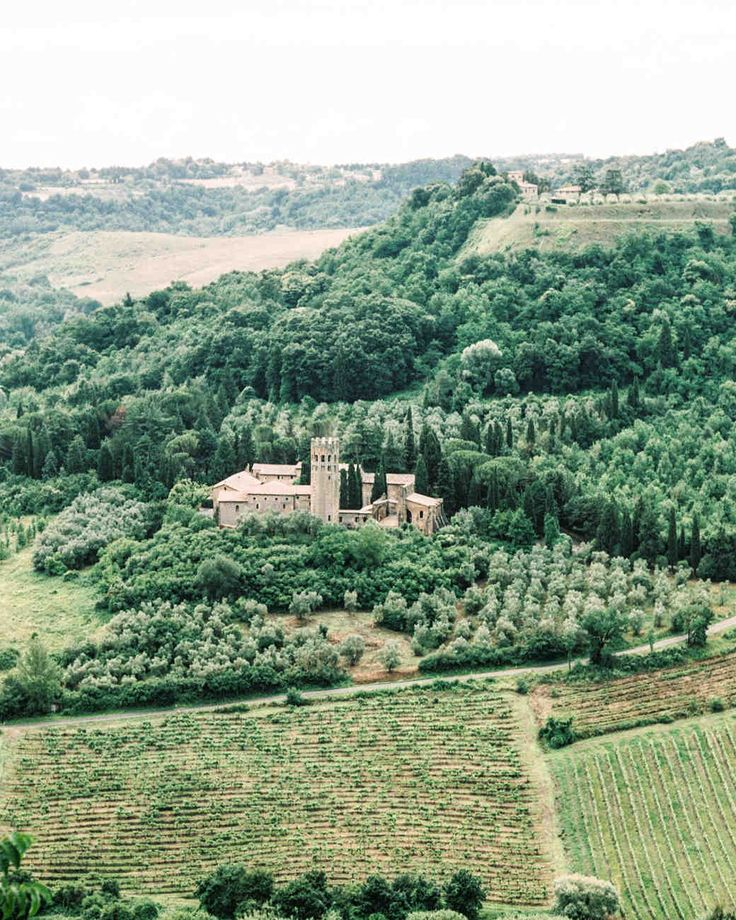This Romantic Italian Wedding Features a Historic Venue—and One Amazing View | Martha Stewart Weddings - All of their guests were able to stay at La Badia Hotel in Italy, making it an intimate, destination weekend to remember.