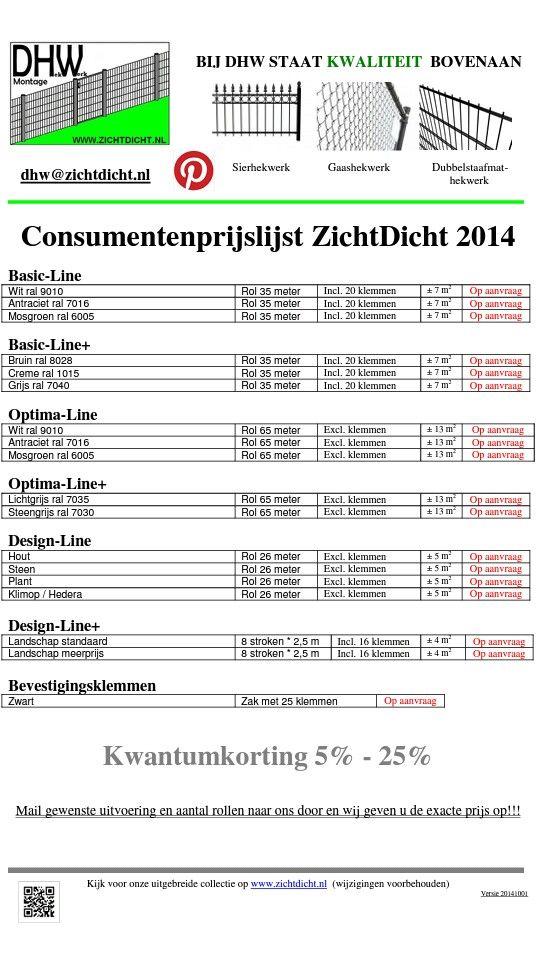 TOP: Hekwerkbekleding, nu 5% - 25% korting. Keuze uit ruim 50 verschillende kleuren/designs. #www.zichtdicht.nl/ref.html
