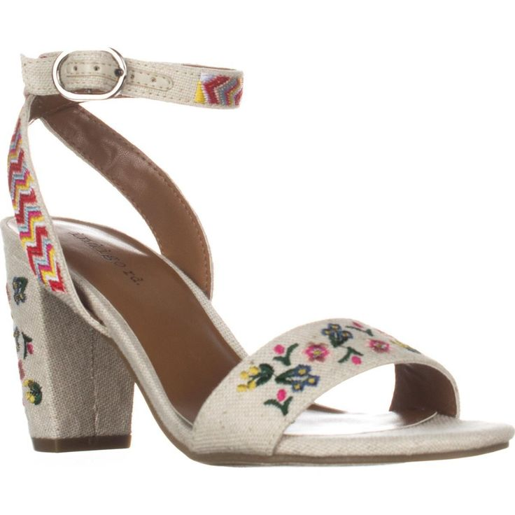 Indigo Rd. Badie Ankle-Strap Sandals, Ivory    #sandals #heels #anklestrap #embroidery #girly #floral #shoes #fashion #style #trend #love #retail #shopping #womensfashion