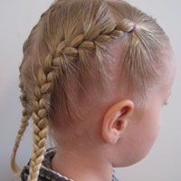Toddler Hair French braids... Tons of little girl hairstyles and instructions on how to do them... I will definitely need this in the future!