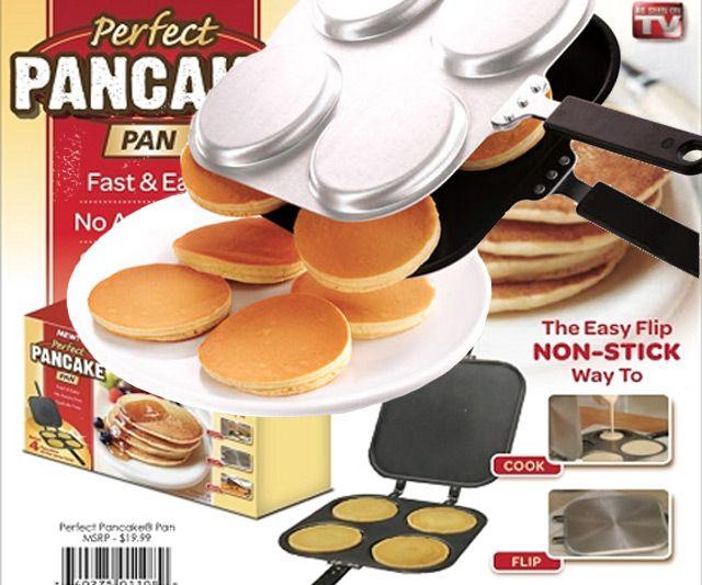 Perfect Pancake Pan | DudeIWantThat.com