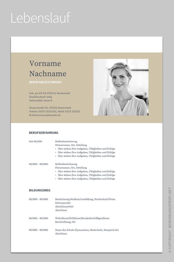 Lebenslauf 1 Napea Resume Design Inspiration Pinterest Resume