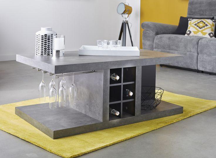 Hilo   Table basse/bar revêtement effet béton - Alinéa