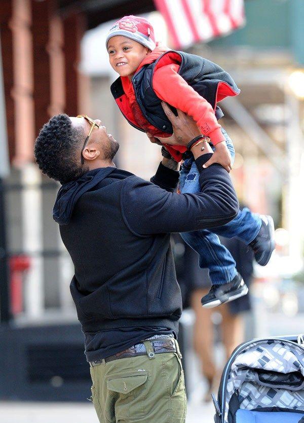 Usher with son Usher Raymond V