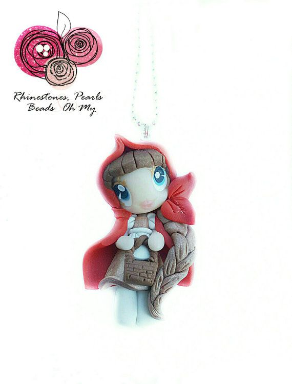 Little Red Riding Hood Necklace, Gift for Girl, Birthday Gift,Party Favor, Gift for Girlfriend, Birthday Present, Unique Accessories