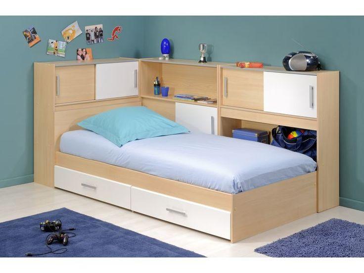 Einzelbett mit stauraum parisot-stauraum-einzelbett-mit-regalen-snoop-iii-buche-dekor--4 ...