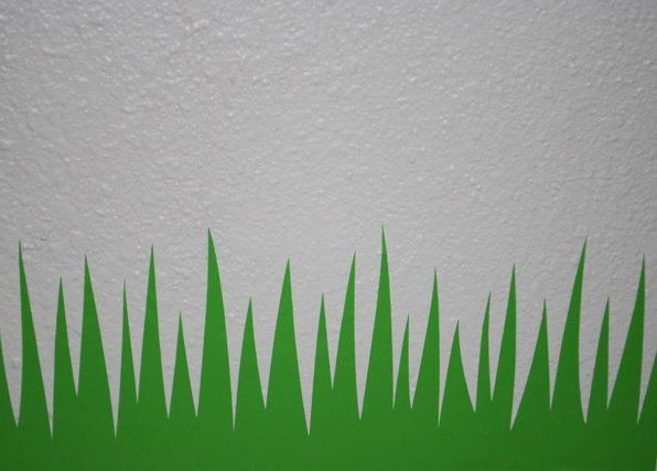 20 Ft Long Grass Border Removable Vinyl Wall Decal