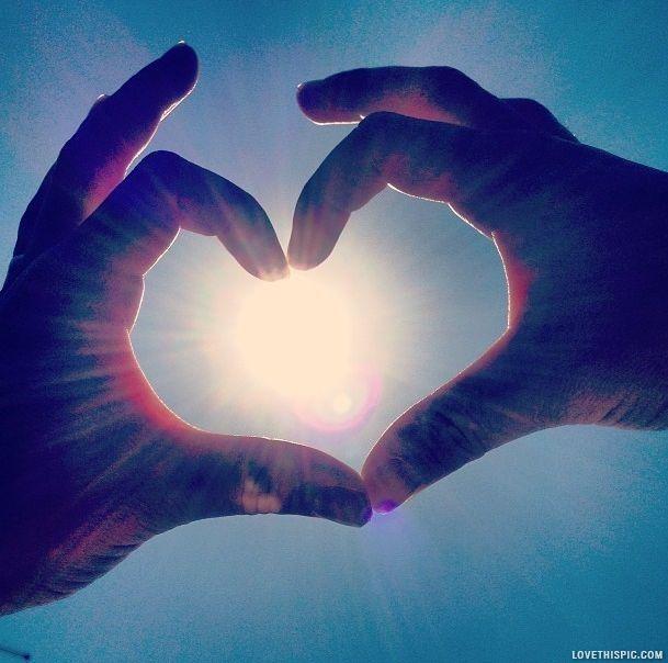 Hand Heart sky heart hand sunshine photography sun