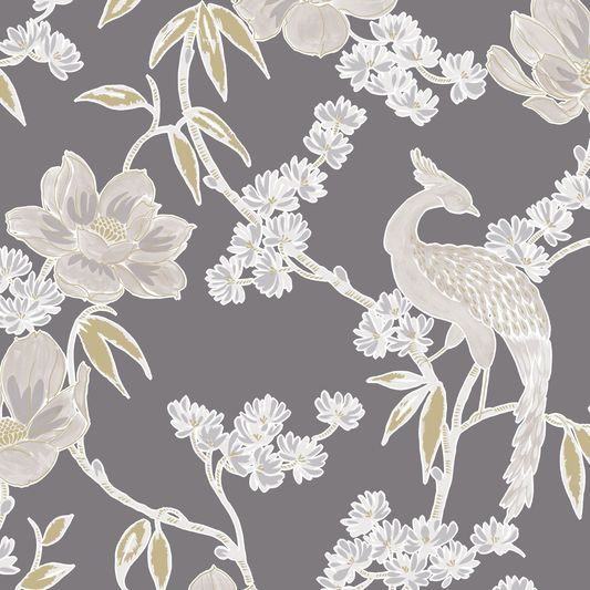 Singapore Dusky Grey Wallpaper, , large