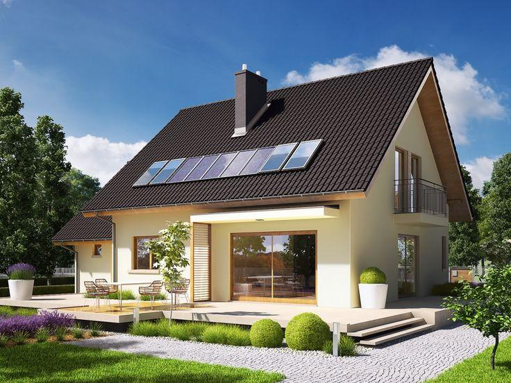 DOM.PL™ - Projekt domu AC E5 ECONOMIC (wersja A) CE - DOM AF3-81 - gotowy projekt domu