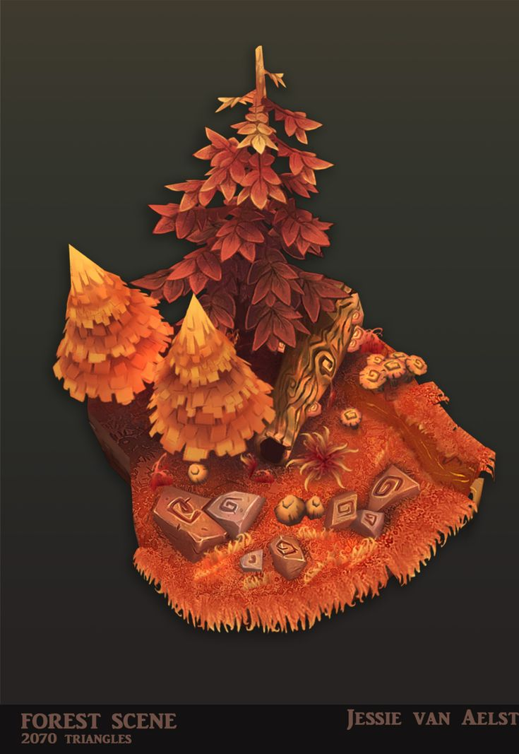 First Thought - I really like the Autumn colours in this piece! It makes a really cool overall effect on the assets.