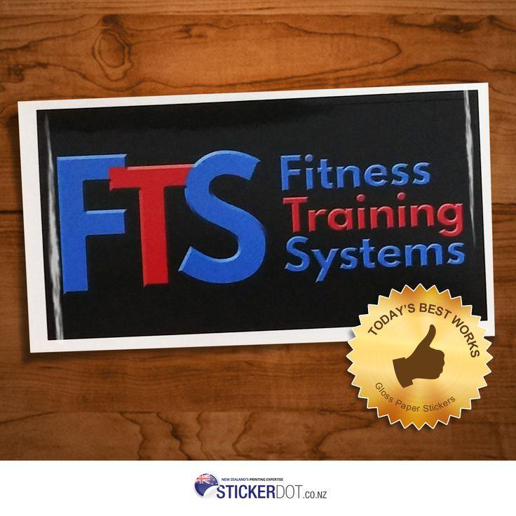 Fitness Gear 4 U Gloss Paper Stickers | 100x50mm | Rectangle