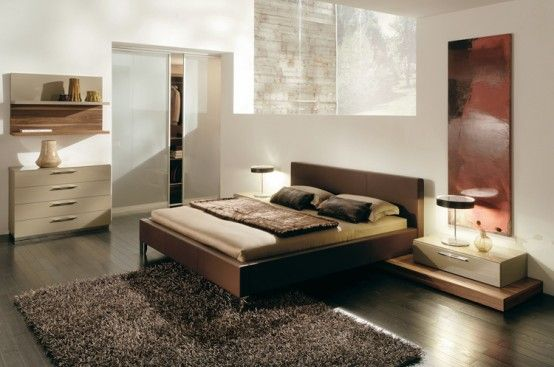 Love the color palate (Warm Bedroom Decorating Ideas by Huelsta)