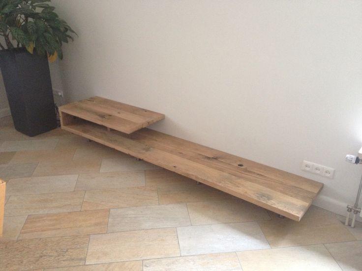 Tv meubel oude eiken wagonplanken