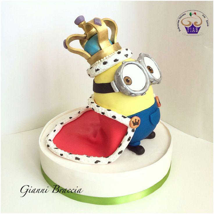 #minion #kingBob #minions #cake #cakedesign #social #sugar #sugarpaste #saracino…