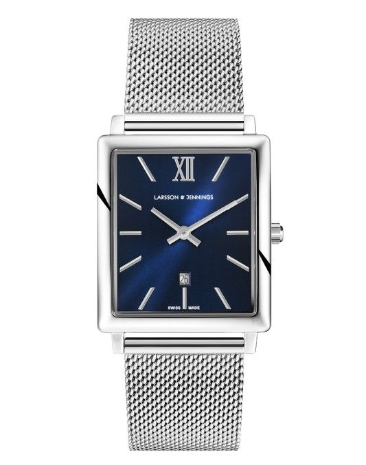 Larsson & Jennings Norse 40mm Watch Silver & Navy  | Shop now at The Idle Man | #StyleMadeEasy