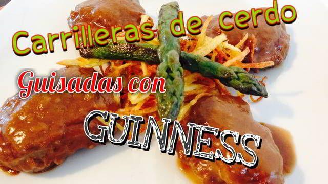 Carrilleras de cerdo guisadas con Guinness