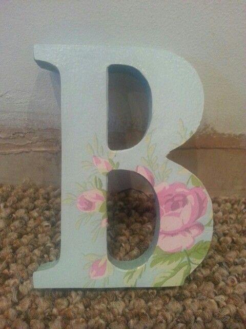 10cm mdf letter £3