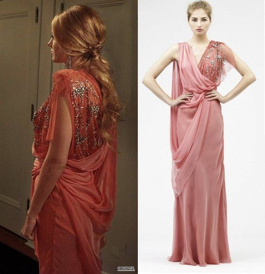 "Jenny Packham dress worn by Serena in Gossip Girl episode 4x22 ""The Wrong Goodbye"""