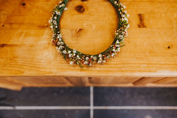 Simple but perfect flower crown for the bride. Photo by Benjamin Stuart Photography #weddingphotography #flowercrown #bride #weddingflowers #headpiece #weddingday #halo