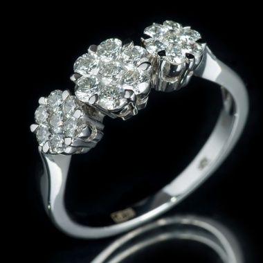 Кольцо с бриллиантами YK-R1043-112