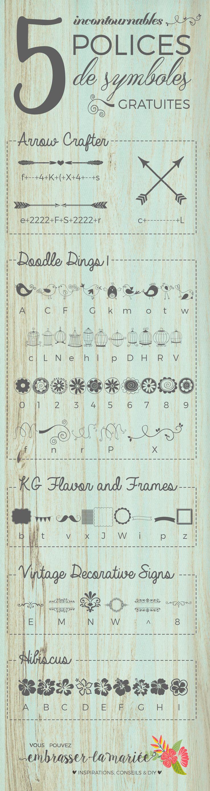 Utiliser des polices de symboles pour compléter un design ? Quelle bonne idée ! Ces 5 polices sont justement gratuites et vraiment jolies.