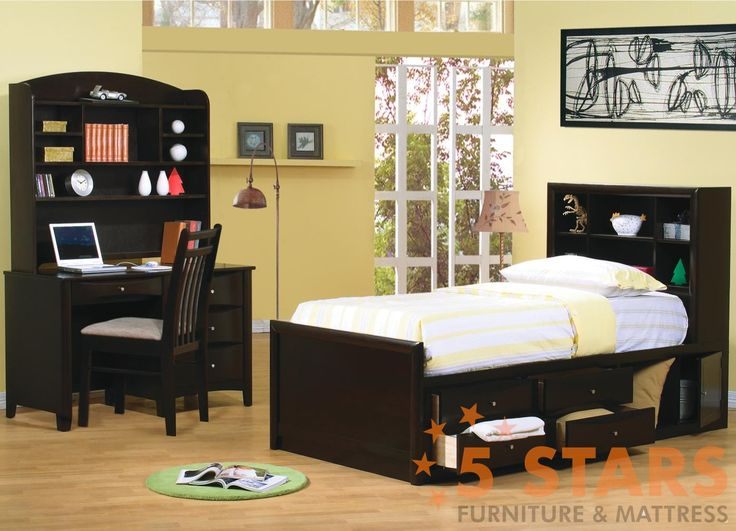 http://www.bkgfactory.com/category/Underbed-Storage/ Phoenix Bookcase Bed with Underbed Storage