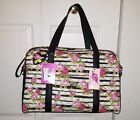 ☼Ð #LUV BETSEY JOHNSON FLORAL STRIPE #ROSES QUILTED WEEKENDER /DUFFLE/TRAVE... METION http://j.mp/2iDjDRc