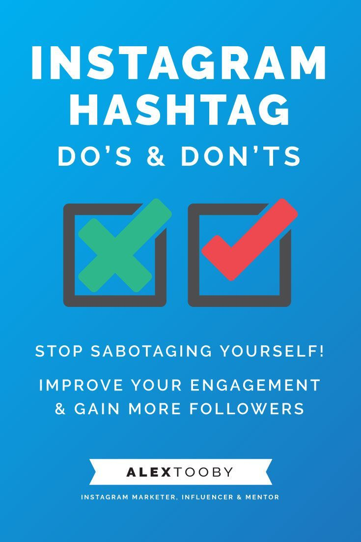 Let's talk Instagram Hashtags.. Sure they seem simple, but seriously, which ones am I supposed to use? Which ones will actually get me the most likes? Followers? Potential clients? Instagram expert Alex Tooby shares her top 10 do's and dont's for Instagram Hashtags and they might just blow your mind! Must read!