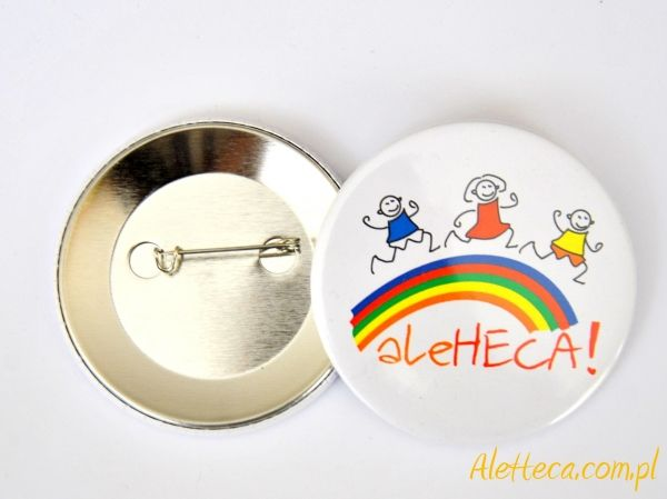 Przypinka znaczek imprezy dla dzieci. http://aleheca.com.pl/?mg=of&of=316