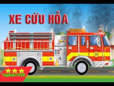 topkidstvvn-Ô tô hoạt hình cứu hỏa-Fire Trucks For Kids