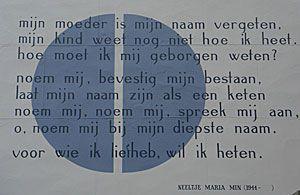Neeltje Maria Min, Mijn moeder is mijn naam vergeten